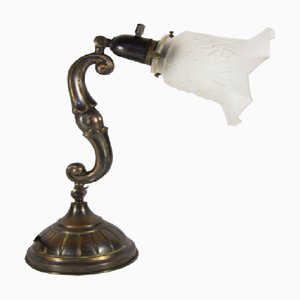 Antike französische Schreibtischlampe