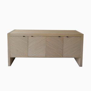Mid-Century American Bamboo and Brass Sideboard, 1970s