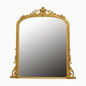 Miroir Mural Ancien Victorien Doré
