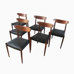 Vintage Esszimmerstühle, 1960er, 6er Set