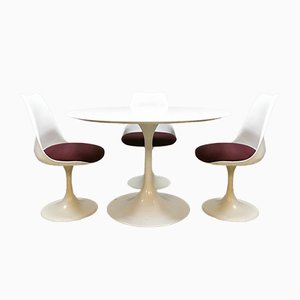 Dining Table & Chairs Set by Saarinen Knoll for Pastoe, 1970s, Set of 4