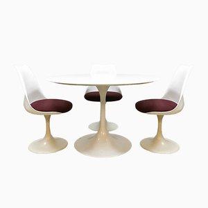 Table de Salle à Manger & Chaises par Saarinen Knoll pour Pastoe, années 70, Set de 4