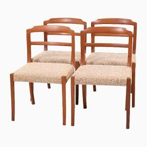 Mid-Century Esszimmerstühle aus Teak von Ole Wanscher für Cado, 4er Set