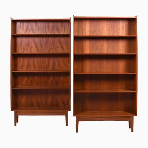 Danish Teak Bookshelves, 1960s, Set of 2