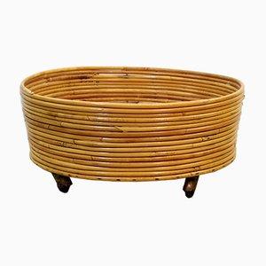 Italienische Vase aus Bambus, 1960er