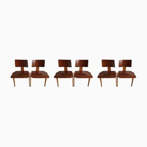 Mid-Century Model Hillestak Dining Chairs by Robin & Lucienne Day for Hille, 1950s, Set of 6