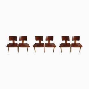 Mid-Century Modell Hillestak Esszimmerstühle von Robin & Lucienne Day für Hille, 1950er, 6er Set