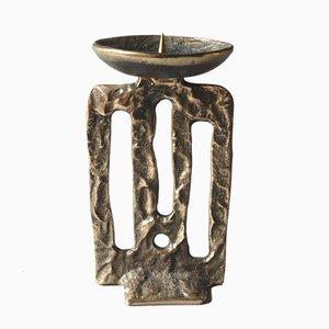 Brutalistischer Kerzenständer aus Bronze, 1970er