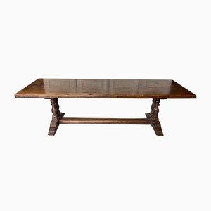 Large 19th Century Chestnut Farmhouse Dining Table