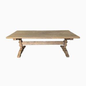 Tavolo da pranzo in quercia sbiancata, XIX secolo