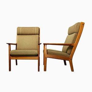 Mid-Century Modell 65A Sessel mit Gestell aus Teak von Hans J. Wegner für Getama, 1970er