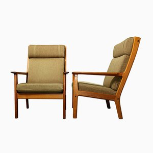 Mid-Century Teak Model 65A Lounge Chair by Hans J. Wegner for Getama, 1970s