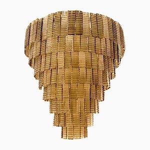 Kronleuchter mit Behang aus Muranoglas von Venini, 1980er