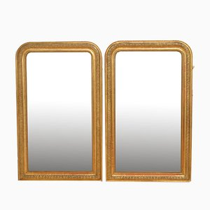 19th Century Giltwood Mirrors, Set of 2