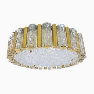 Lampada da soffitto Mid-Century in vetro di Murano e ottone di Kaiser Idell / Kaiser Leuchten, Germania, anni '60