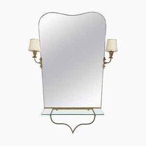 Miroir Mid-Century, Italie, années 50