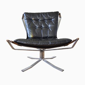 Danish Steel Falcon Lounge Chair by Sigurd Ressell, 1970s