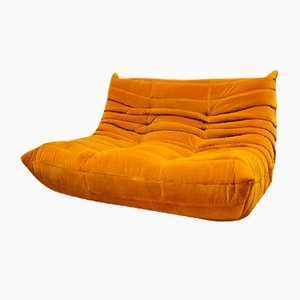 Vintage 2-Seater Modular Togo Sofa by Michel Ducaroy for Ligne Roset, 1970s