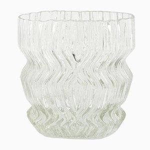 Large Mid-Century German Glass Vase by Tapio Wirkkala for Rosenthal, 1960s