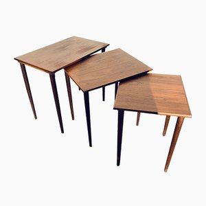Tables Gigognes en Teck, années 60