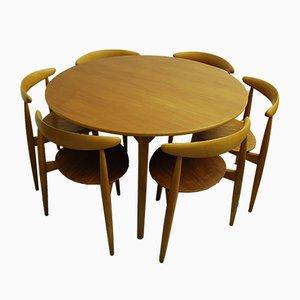Esstisch & Stühle von Hans J. Wegner für Fritz Hansen, 1950er Jahre