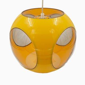 Gelbe Ball Deckenlampe von Luigi Colani, 1970er