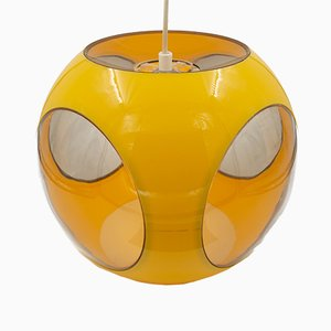 Yellow Ball Ceiling Lamp by Luigi Colani, 1970s