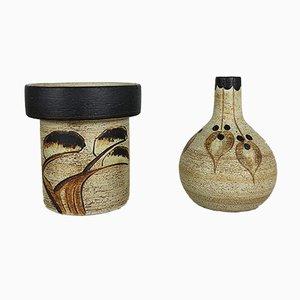 Skulpturale deutsche Vintage Vasen von Peter Müller für Sgrafo Modern, 2er Set