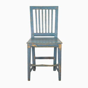 Antique Swedish Blue Farmhouse Chair