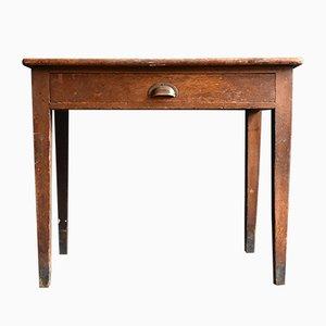 Kleiner Schreibtisch aus massiver Eiche, 1920er