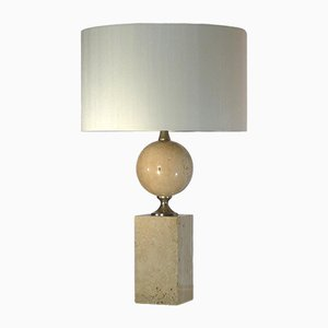 Travertine Table Lamp by Philippe Barbier, 1970s