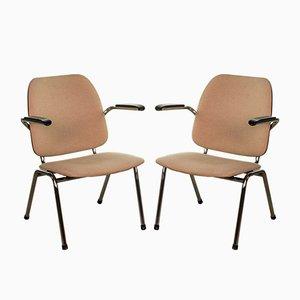 Armlehnstühle aus Chrom & Bakelit von Martin de Wit für Gispen, 1960er, 2er Set