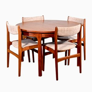 Swedish Dining Table & Chairs Set by Nils Jonsson for Hugo Troeds, 1960s, Set of 5