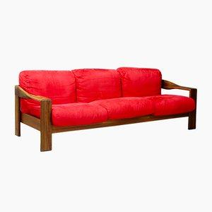 Sofa mit Gestell aus Nussholz von Tobia & Afra Scarpa für Molteni, 1980er