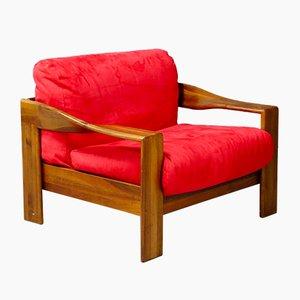 Roter Sessel von Tobia & Afra Scarpa für Molteni, 1980er