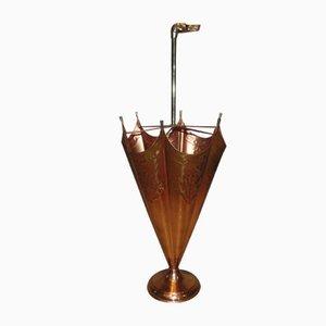 Vintage Copper Brass Umbrella Stand