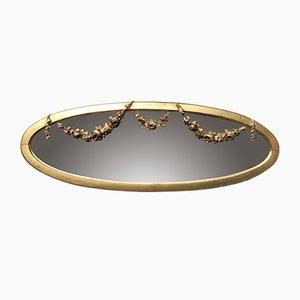 Antiker ovaler Spiegel mit vergoldetem Rahmen