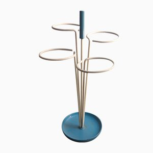 Mid-Century Lacquered Metal Umbrella Stand, 1950s