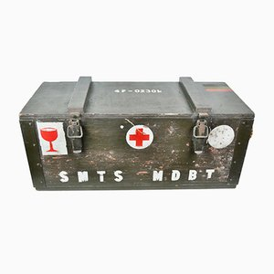 Belgian Military Wooden Box, 1960s