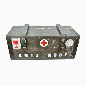 Caja militar belga de madera, años 60