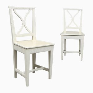 Antique Gustavian Gotland Side Chairs, Set of 2
