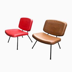 Modell CM190 Slipper Stühle von Pierre Paulin für Thonet, 1950er, 2er Set
