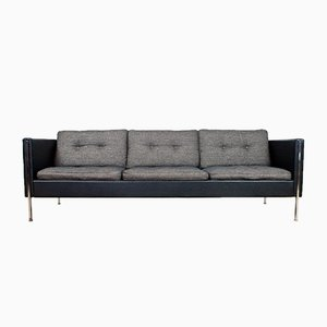 Mid-Century Black and Gray Model 442 Sofa by Pierre Paulin for Artifort, 1960s