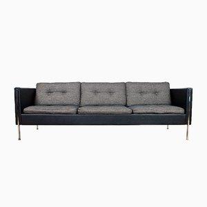 Schwarz-graues Mid-Century Modell 442 Sofa von Pierre Paulin für Artifort, 1960er