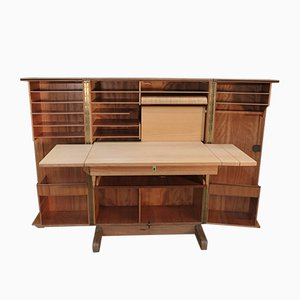 Swiss Teak Veneer Model Magic Box Desk from Mummenthaler & Meier, 1950s