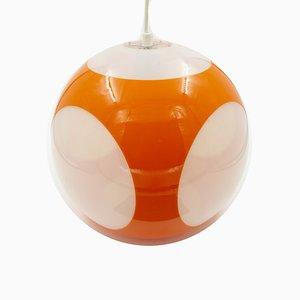Orangefarbene Ball Deckenlampe von Luigi Colani, 1970er