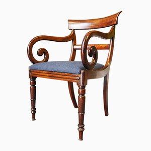 Antiker Regency Beistellstuhl aus Mahagoni