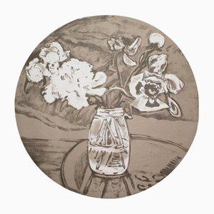 Litografía del portfolio Self-Portrait in a Convex Mirror de Jane Freilicher, 1984