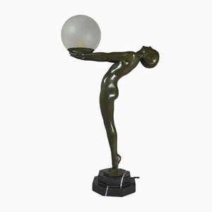 Art Deco Sculptural Lamp from Max Le Verrier, 1920s