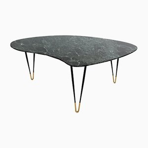 Italian Green Marble Coffee Table, 1950s